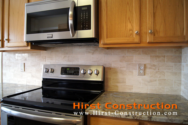 Marble Backsplash Brick Pattern